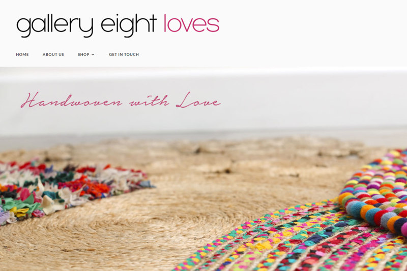 Gallery Eight Loves ecommerce site