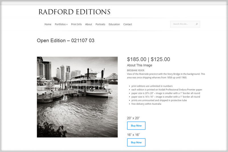 Radford Editions ecommerce site